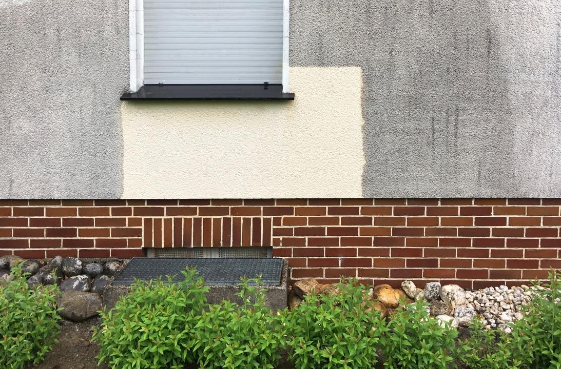 Fassadenreinigung Kostenlose Probefläche